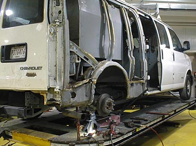 A van on a chassis Liner frame machine